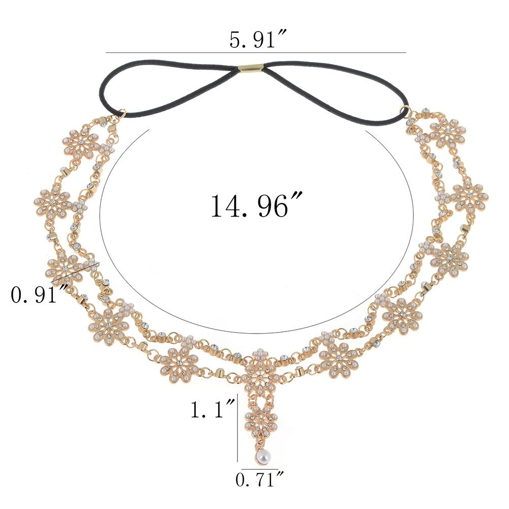 Women Fashion Metal Rhinestone Head Chain Jewelry Headband JH04035 4