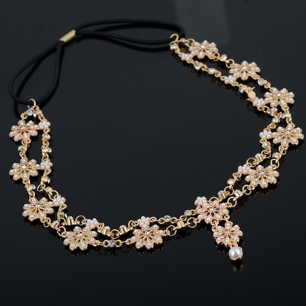 Women Fashion Metal Rhinestone Head Chain Jewelry Headband JH04035 6