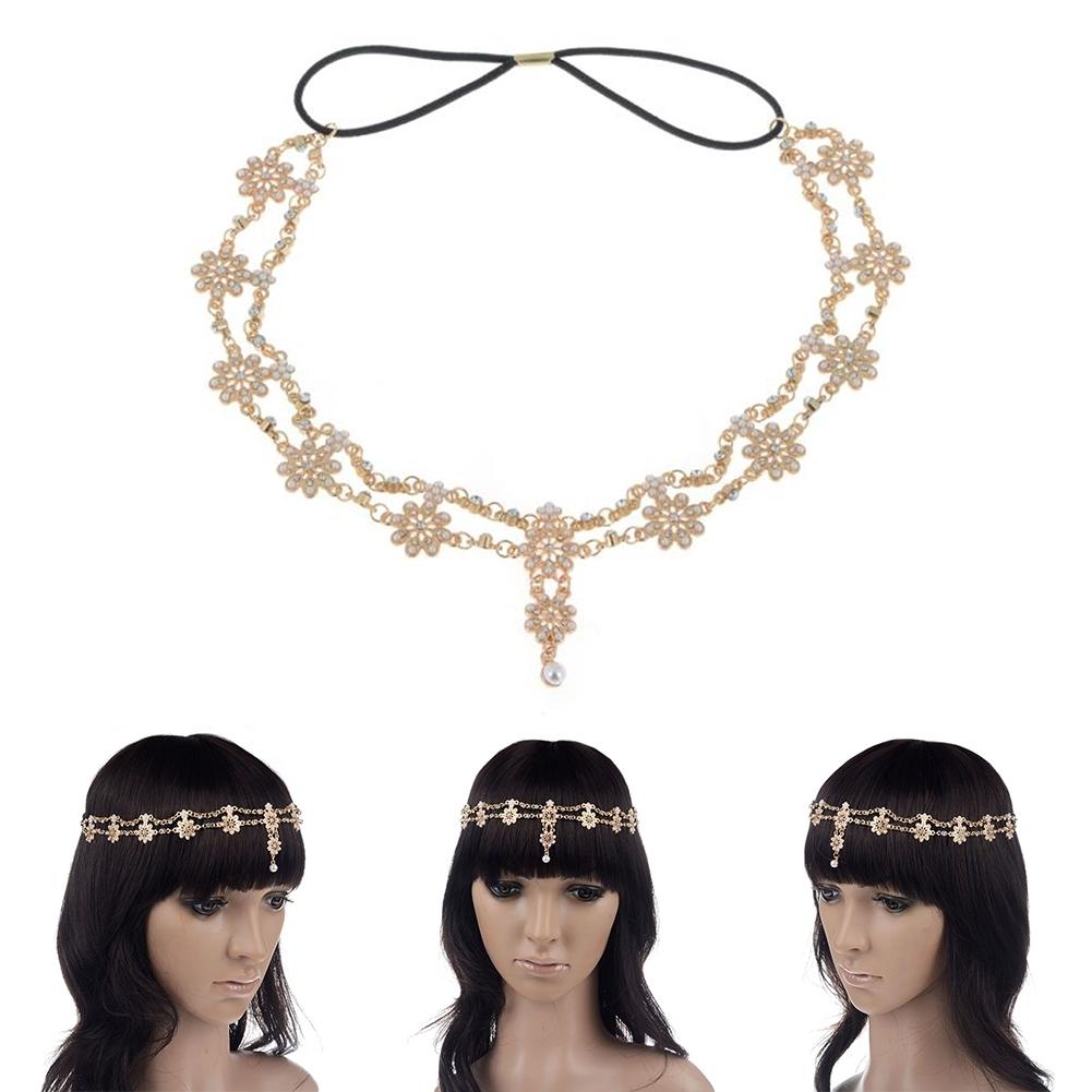Women Fashion Metal Rhinestone Head Chain Jewelry Headband JH04035 8