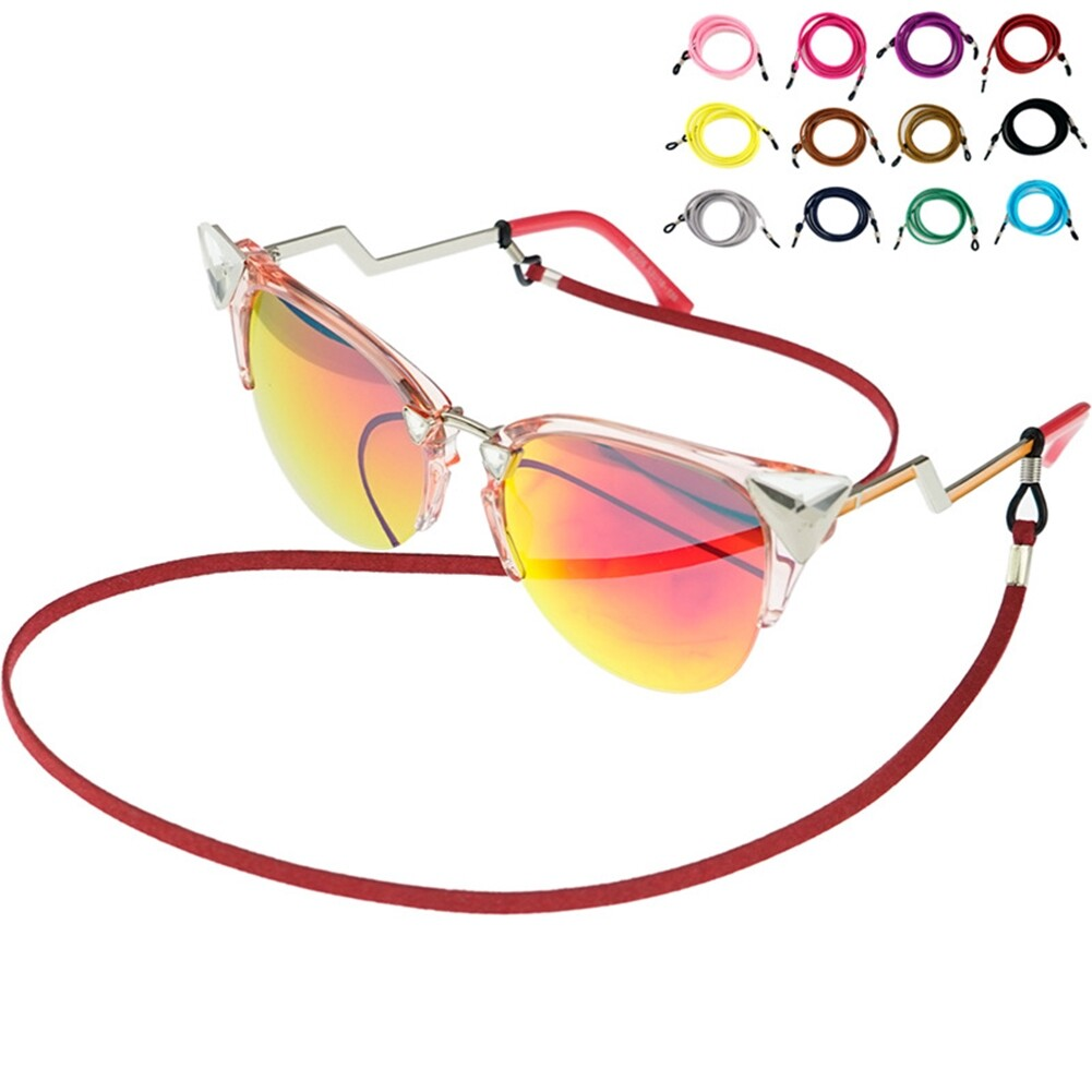 Multicolor Leather Eyewear Cord Lanyard Glass Reading Strap Eyeglass Chain JWP0106 1