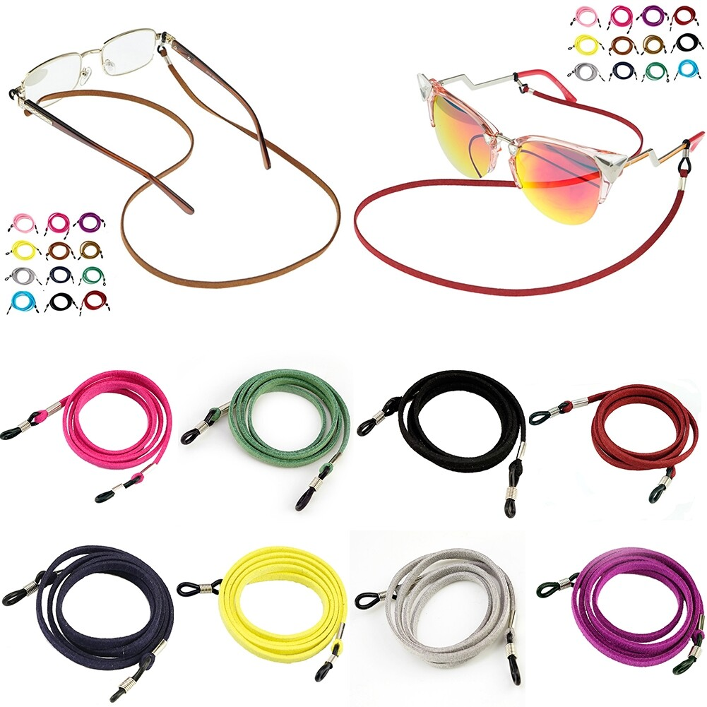 Multicolor Leather Eyewear Cord Lanyard Glass Reading Strap Eyeglass Chain JWP0106 19