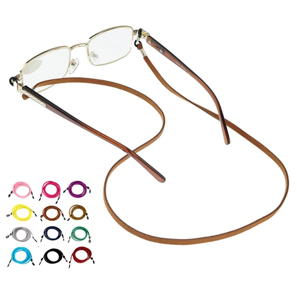 Multicolor Leather Eyewear Cord Lanyard Glass Reading Strap Eyeglass Chain JWP0106 3