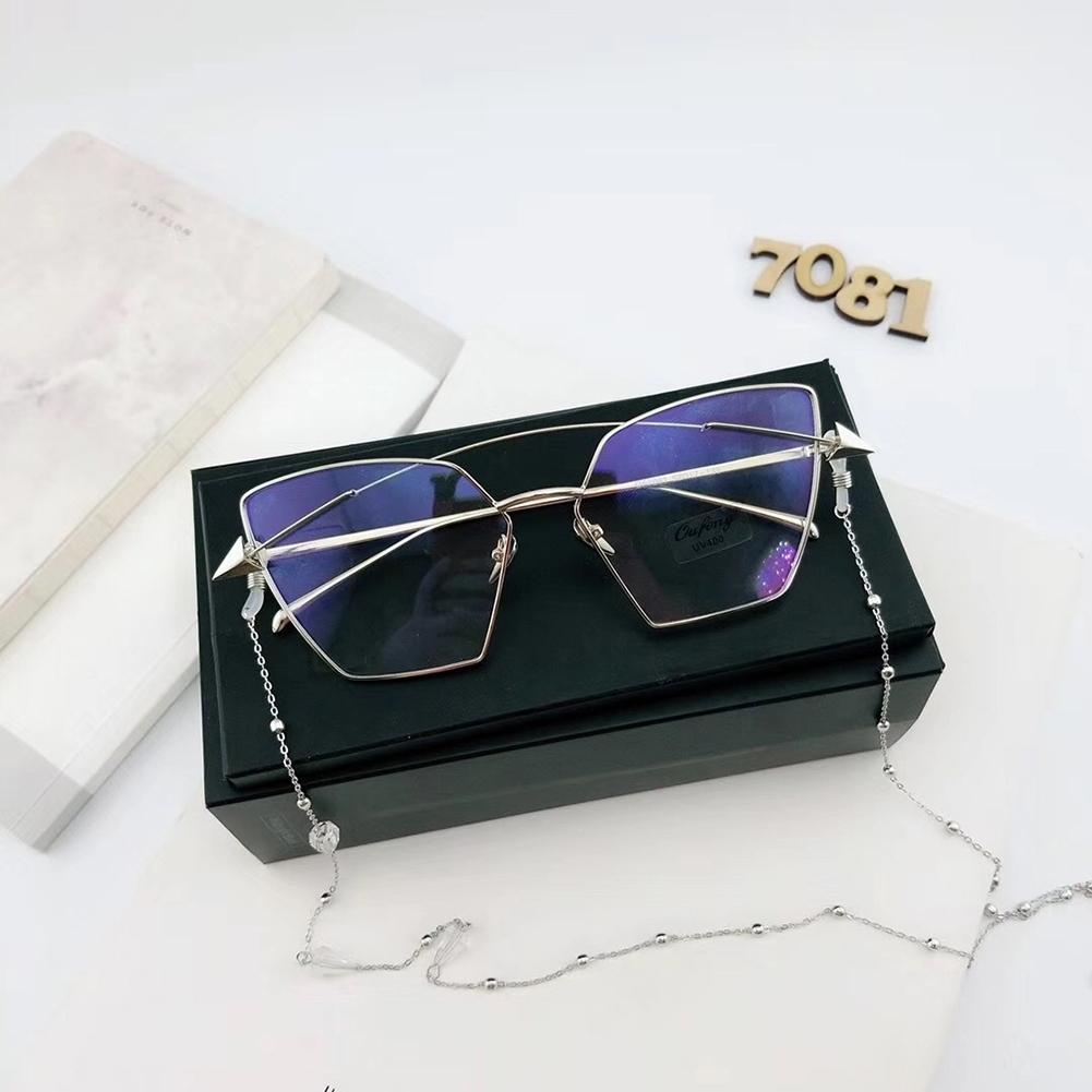 Triangle Drill Glasses Chain Lanyard Fashion Metal Sunglasses Chain Slip Rope JWP0130 1