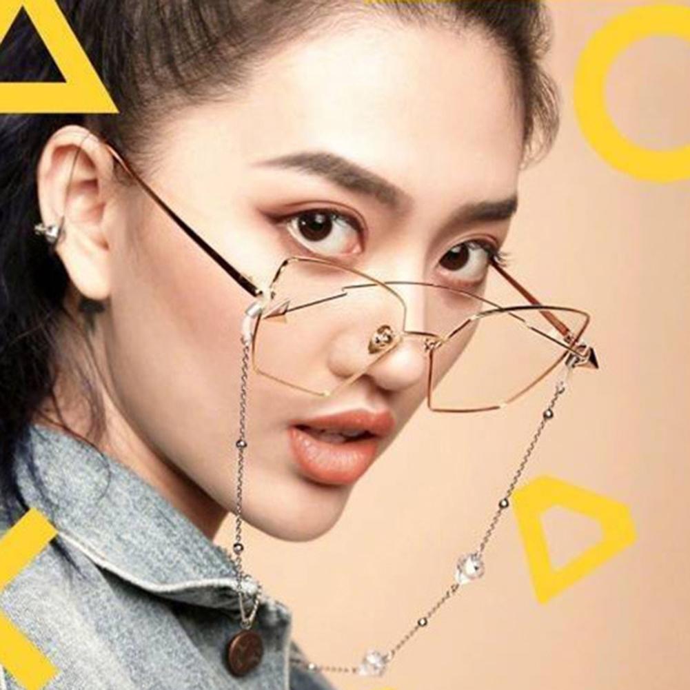 Triangle Drill Glasses Chain Lanyard Fashion Metal Sunglasses Chain Slip Rope JWP0130 3