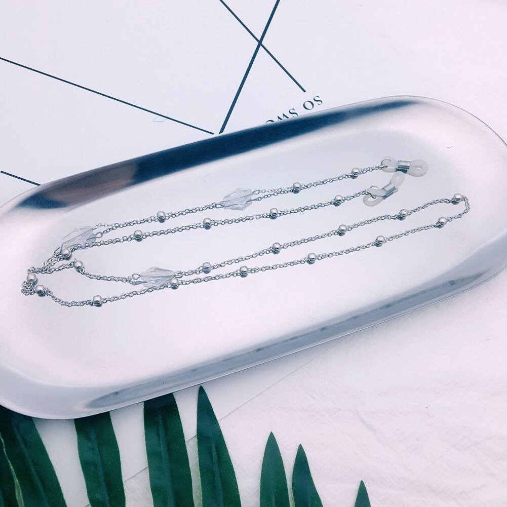 Triangle Drill Glasses Chain Lanyard Fashion Metal Sunglasses Chain Slip Rope JWP0130 4