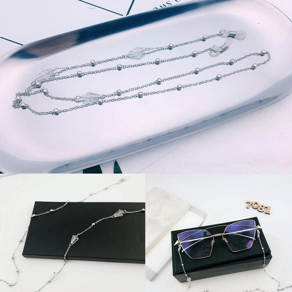 Triangle Drill Glasses Chain Lanyard Fashion Metal Sunglasses Chain Slip Rope JWP0130 5