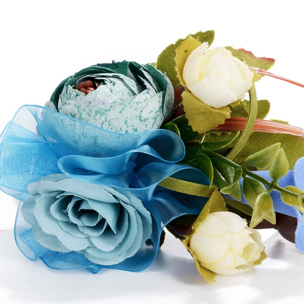 Wedding Bridal Party Artificial Fabric Flower Hair Band For Women Handmade Headband Jewelry Accessories JHE0007 4