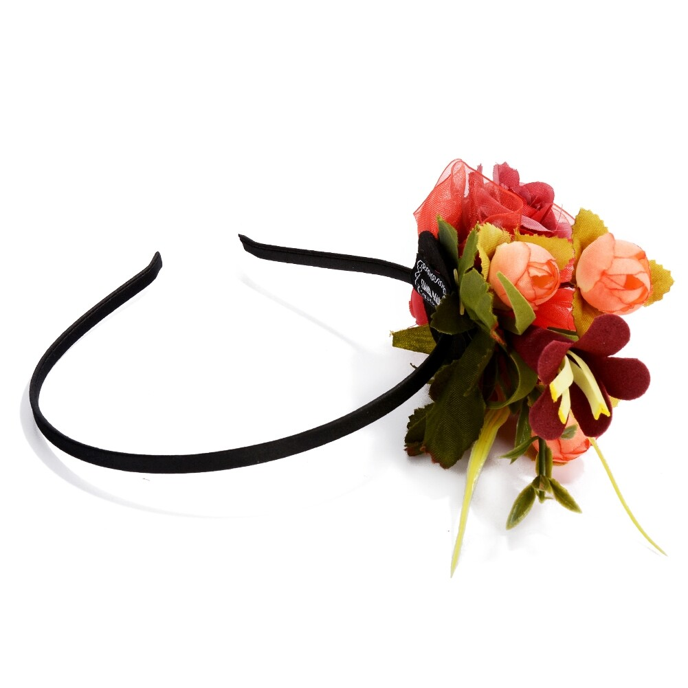 Wedding Bridal Party Artificial Fabric Flower Hair Band For Women Handmade Headband Jewelry Accessories JHE0007 13