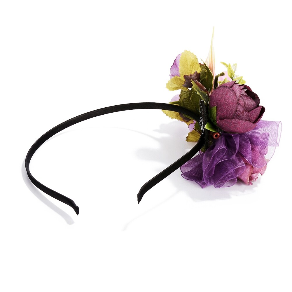 Wedding Bridal Party Artificial Fabric Flower Hair Band For Women Handmade Headband Jewelry Accessories JHE0007 17