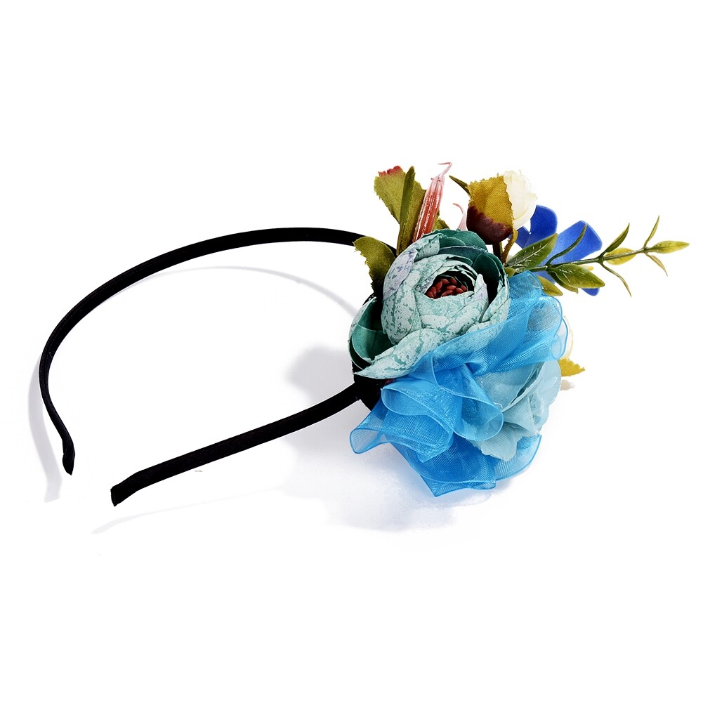 Wedding Bridal Party Artificial Fabric Flower Hair Band For Women Handmade Headband Jewelry Accessories JHE0007 6