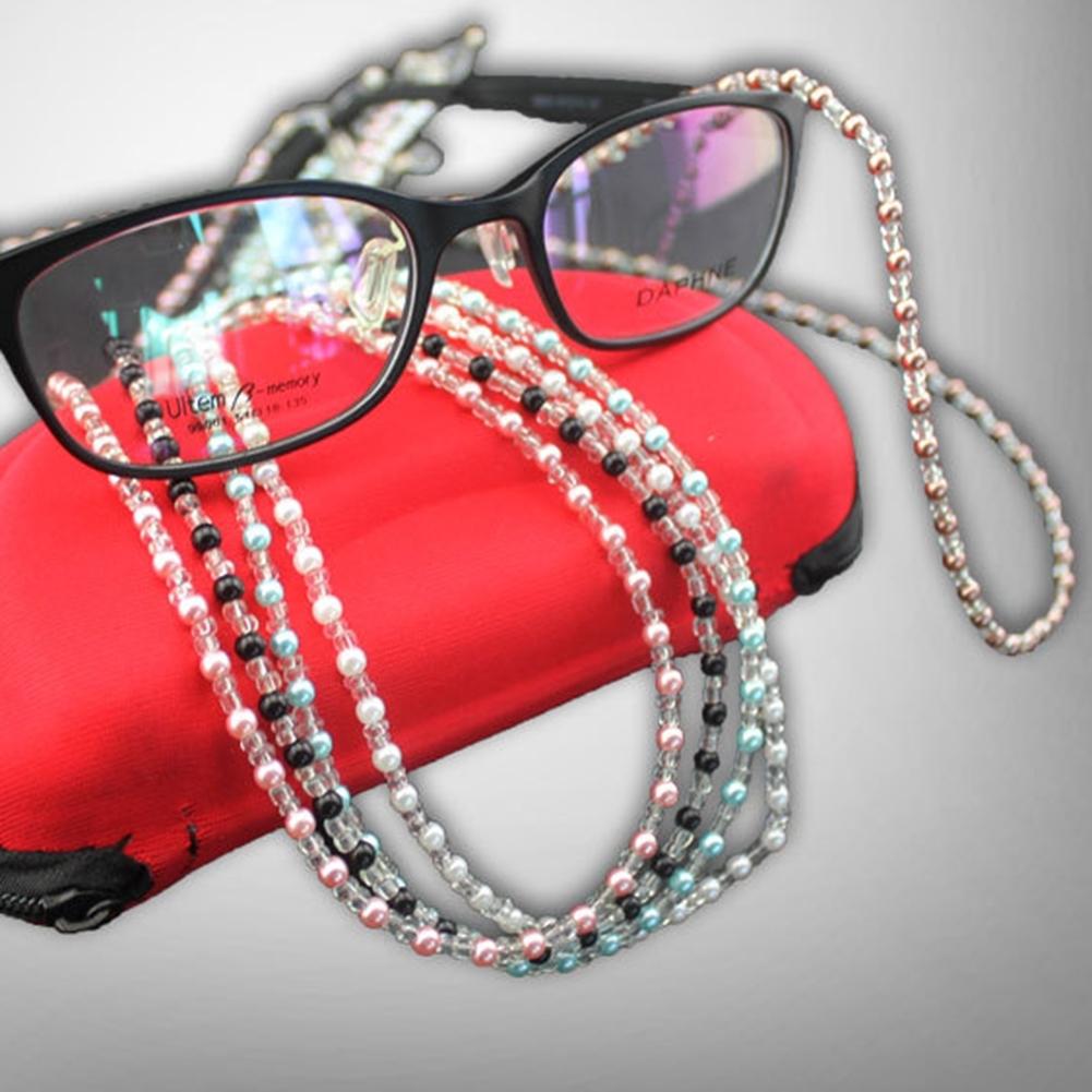Fashion Bead Eyeglass Cord Glasses Anti-skid Eyewear Spectacles Chain Holder NEW JWP0163 0