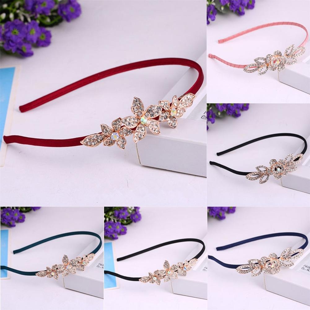 Women Fashion Crystal Rhinestone Head Jewelry Headband Headpiece Hair Band JHE0043 6
