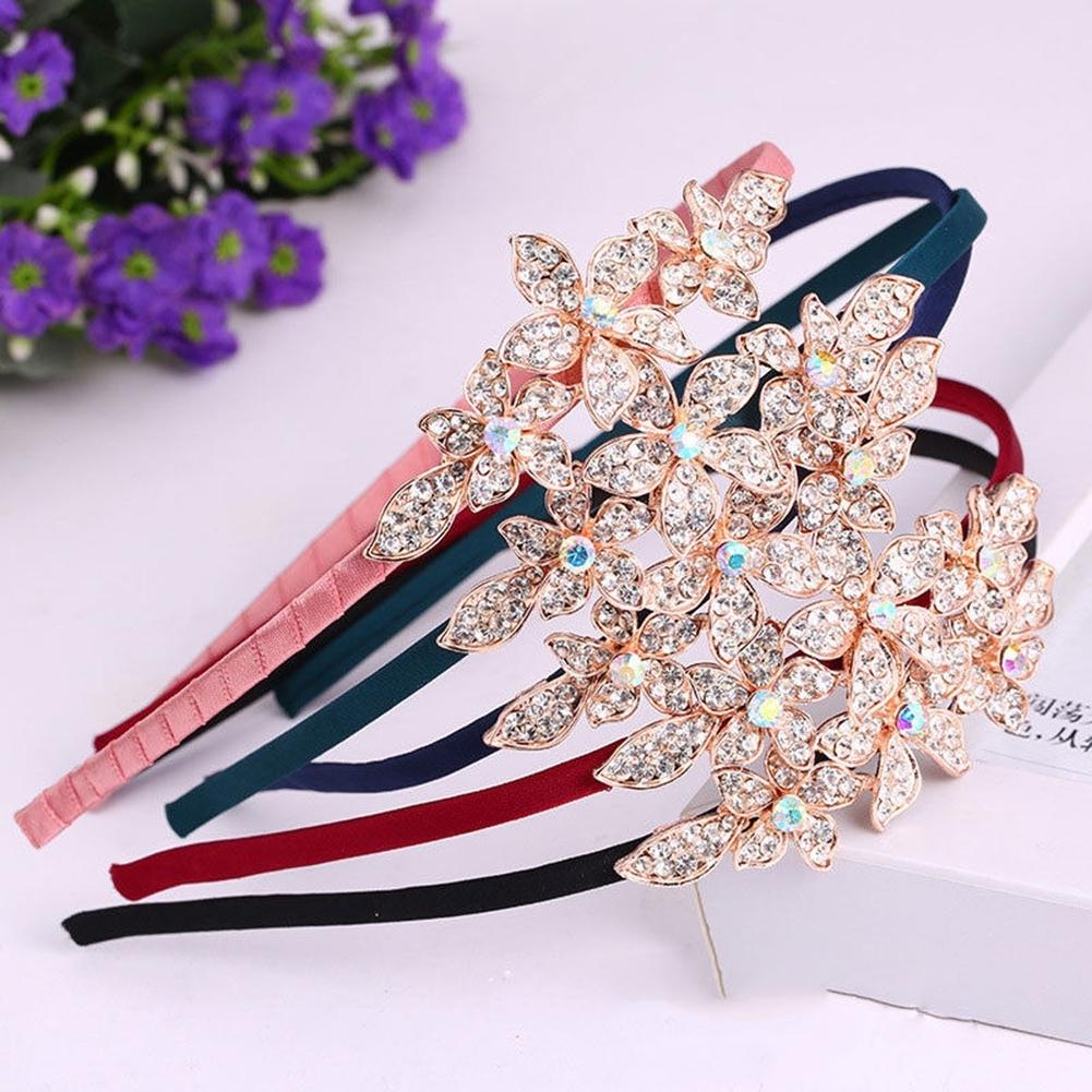 Women Fashion Crystal Rhinestone Head Jewelry Headband Headpiece Hair Band JHE0043 0
