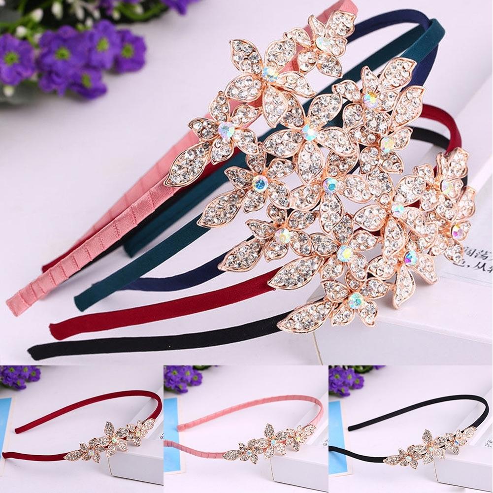 Women Fashion Crystal Rhinestone Head Jewelry Headband Headpiece Hair Band JHE0043 8