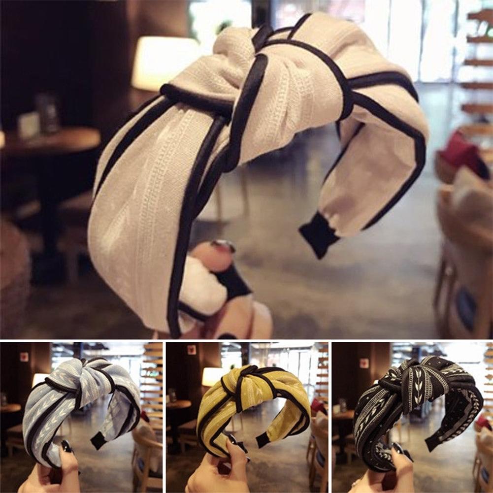 Womens Yoga Elastic Cute Hairband Turban Knotted Hair Band Bandanas Headband JHE0038 0