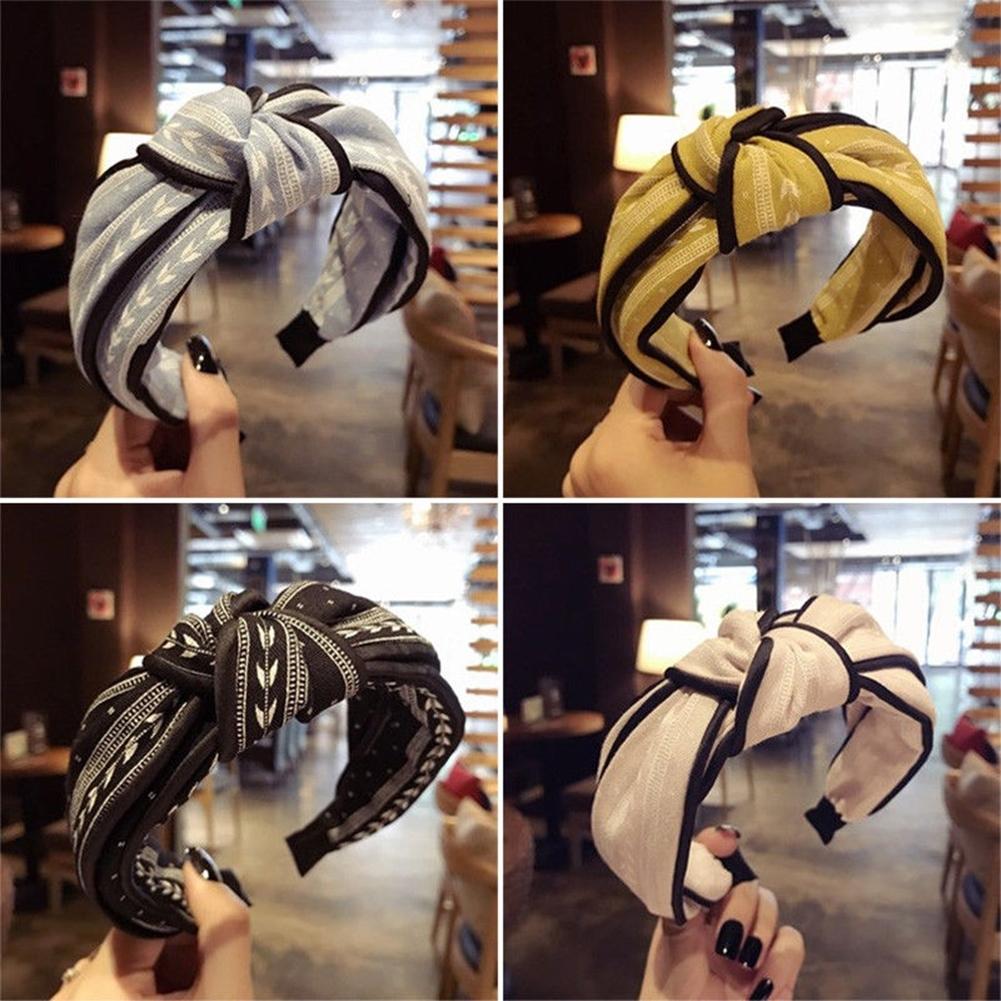 Womens Yoga Elastic Cute Hairband Turban Knotted Hair Band Bandanas Headband JHE0038 2