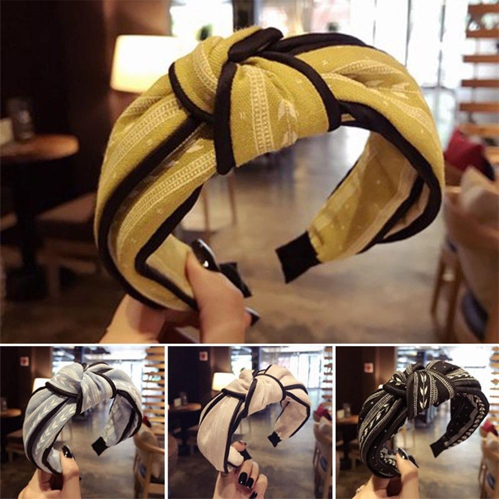 Womens Yoga Elastic Cute Hairband Turban Knotted Hair Band Bandanas Headband JHE0038 3
