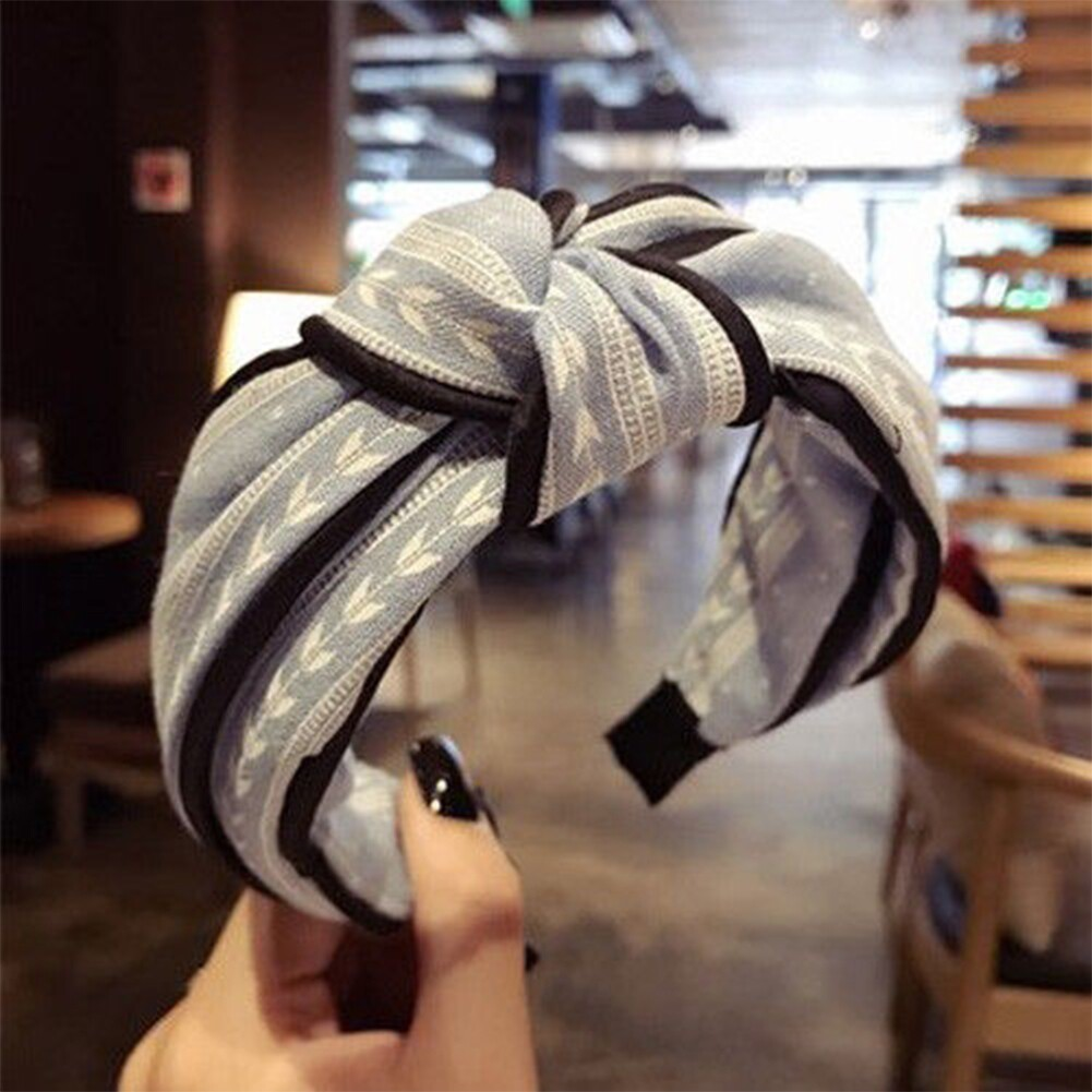 Womens Yoga Elastic Cute Hairband Turban Knotted Hair Band Bandanas Headband JHE0038 5