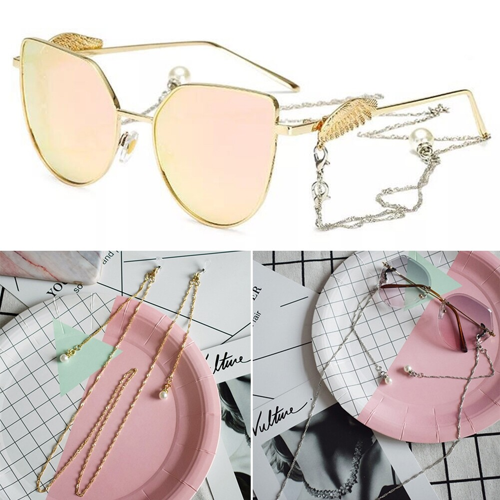 Best Selling Glasses Hanging Chain Pearl Chain Double Buckle Chain Fashion Sunglasses Chain JWP0218 5