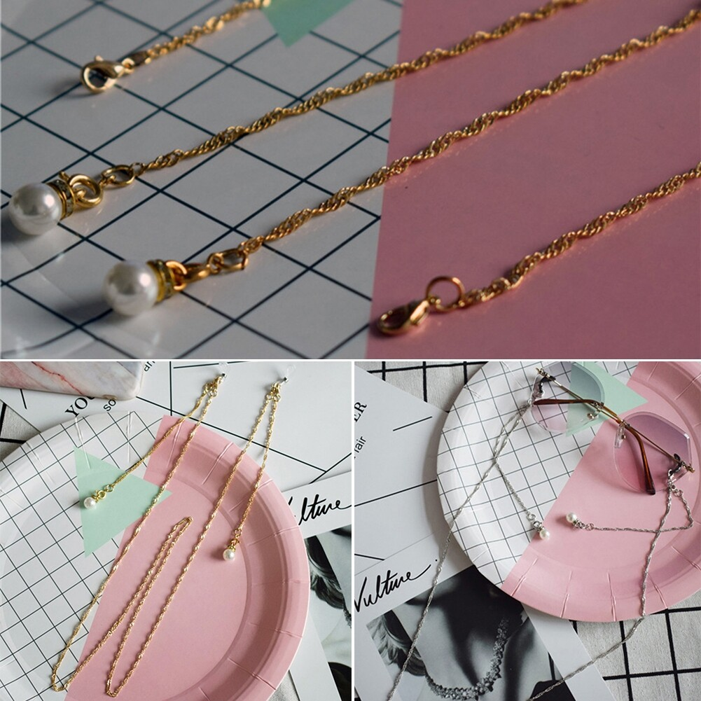 Best Selling Glasses Hanging Chain Pearl Chain Double Buckle Chain Fashion Sunglasses Chain JWP0218 6
