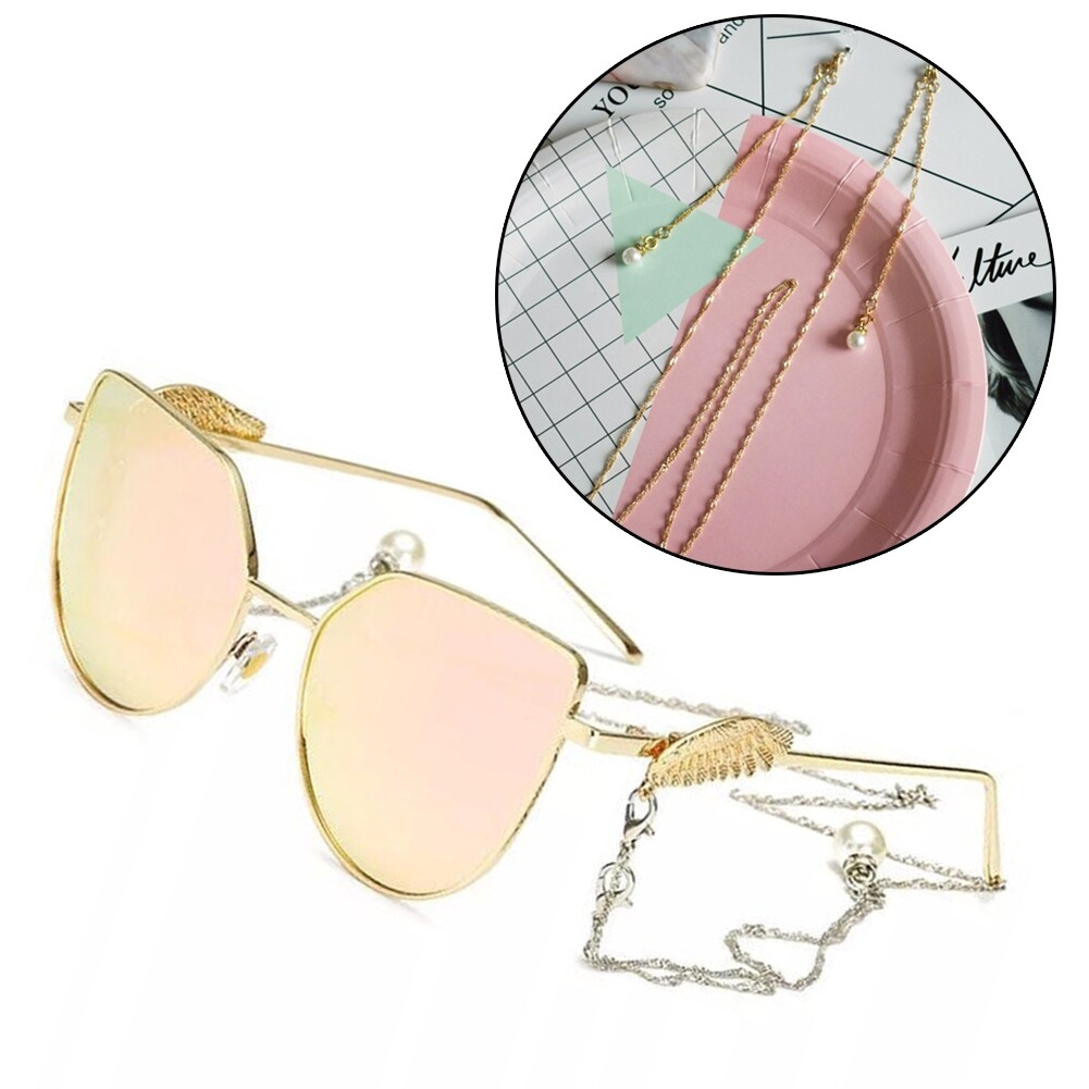 Best Selling Glasses Hanging Chain Pearl Chain Double Buckle Chain Fashion Sunglasses Chain JWP0218 7