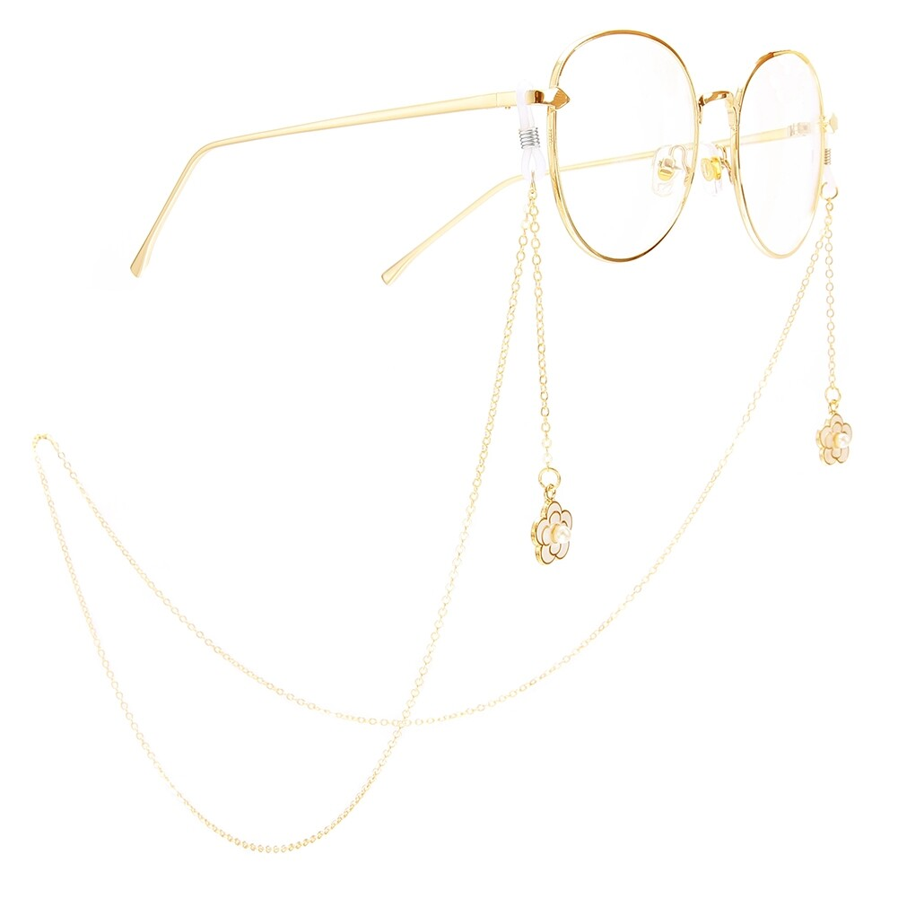 Golden Pearl Plum Pendant Glasses Chain Ladies Special Eyewear Jewelry Chain JWP0228 0