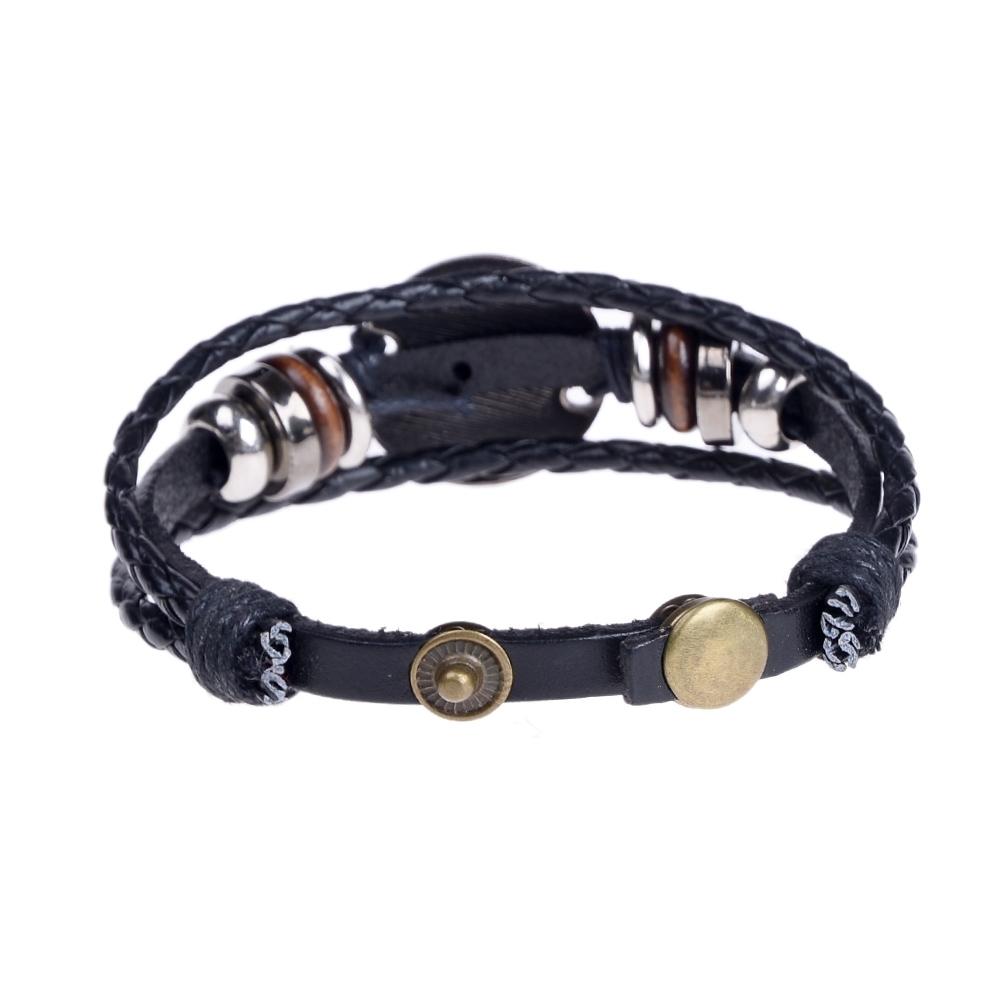 Handmade alloy bracelet 12 constellation Braided Rope Bracelet Adjustable male and female (Libra)  JBE0024@ 4