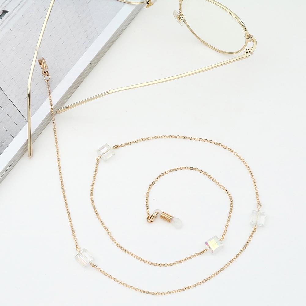 Novel Square Crystal Ornaments Glasses Chain Fashion Sunglasses Glasses Decorative Chain JWP0226 1