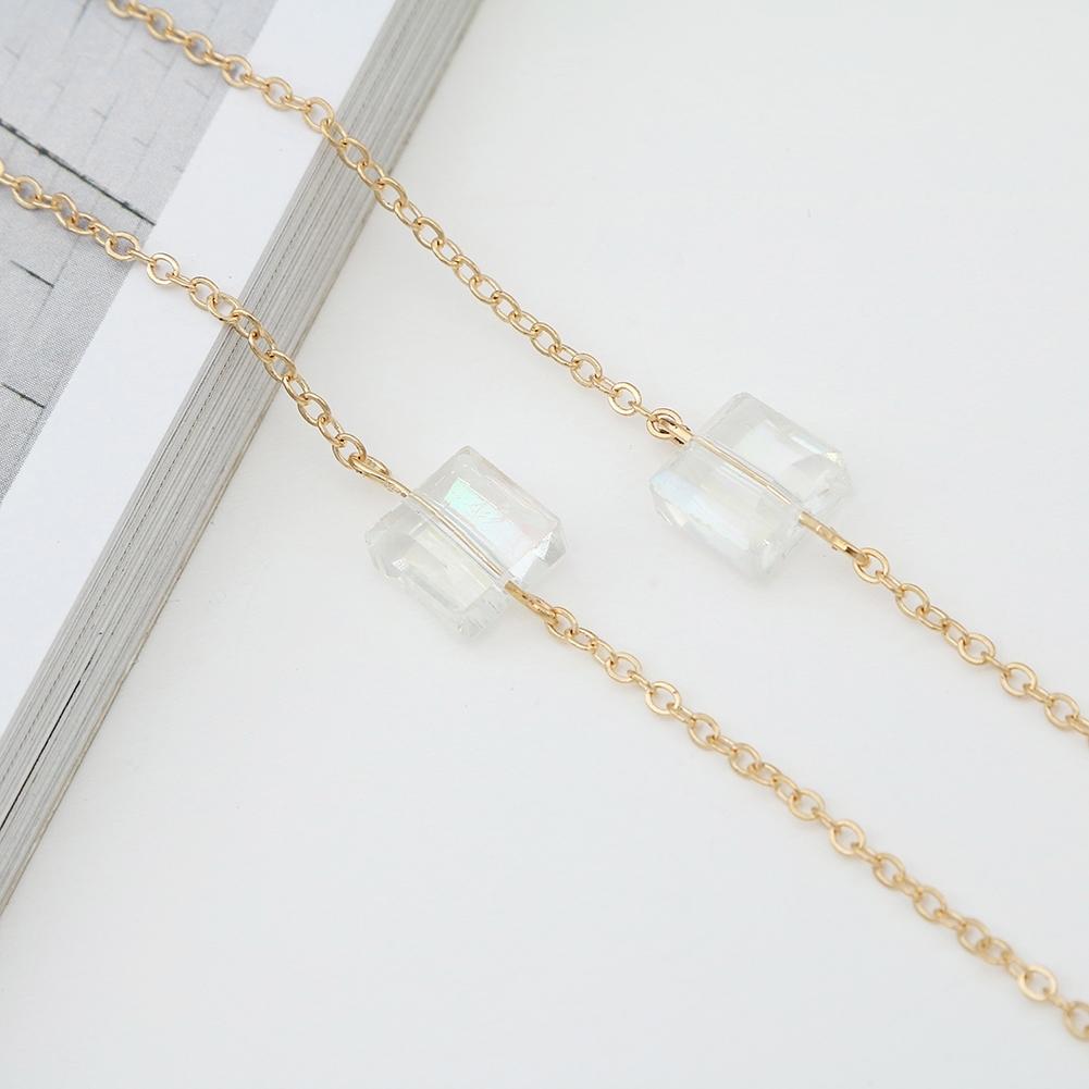 Novel Square Crystal Ornaments Glasses Chain Fashion Sunglasses Glasses Decorative Chain JWP0226 2