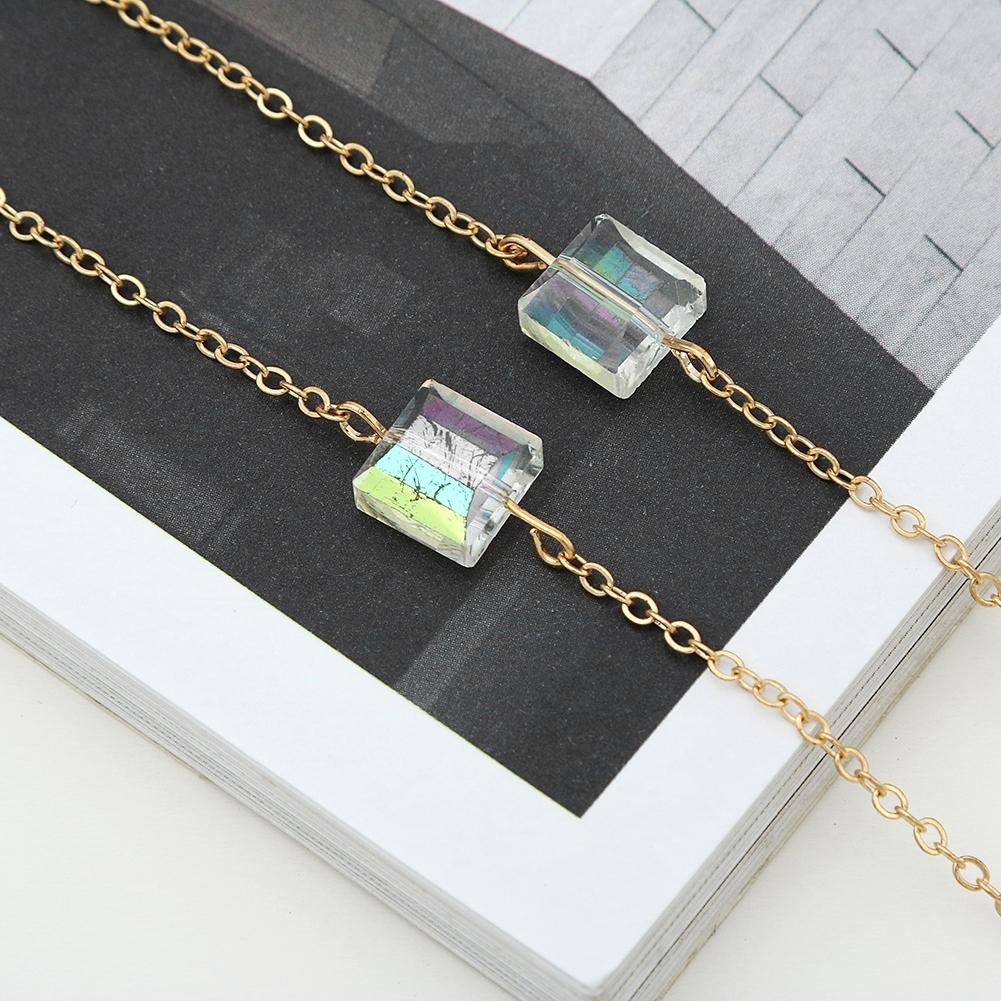 Novel Square Crystal Ornaments Glasses Chain Fashion Sunglasses Glasses Decorative Chain JWP0226 3