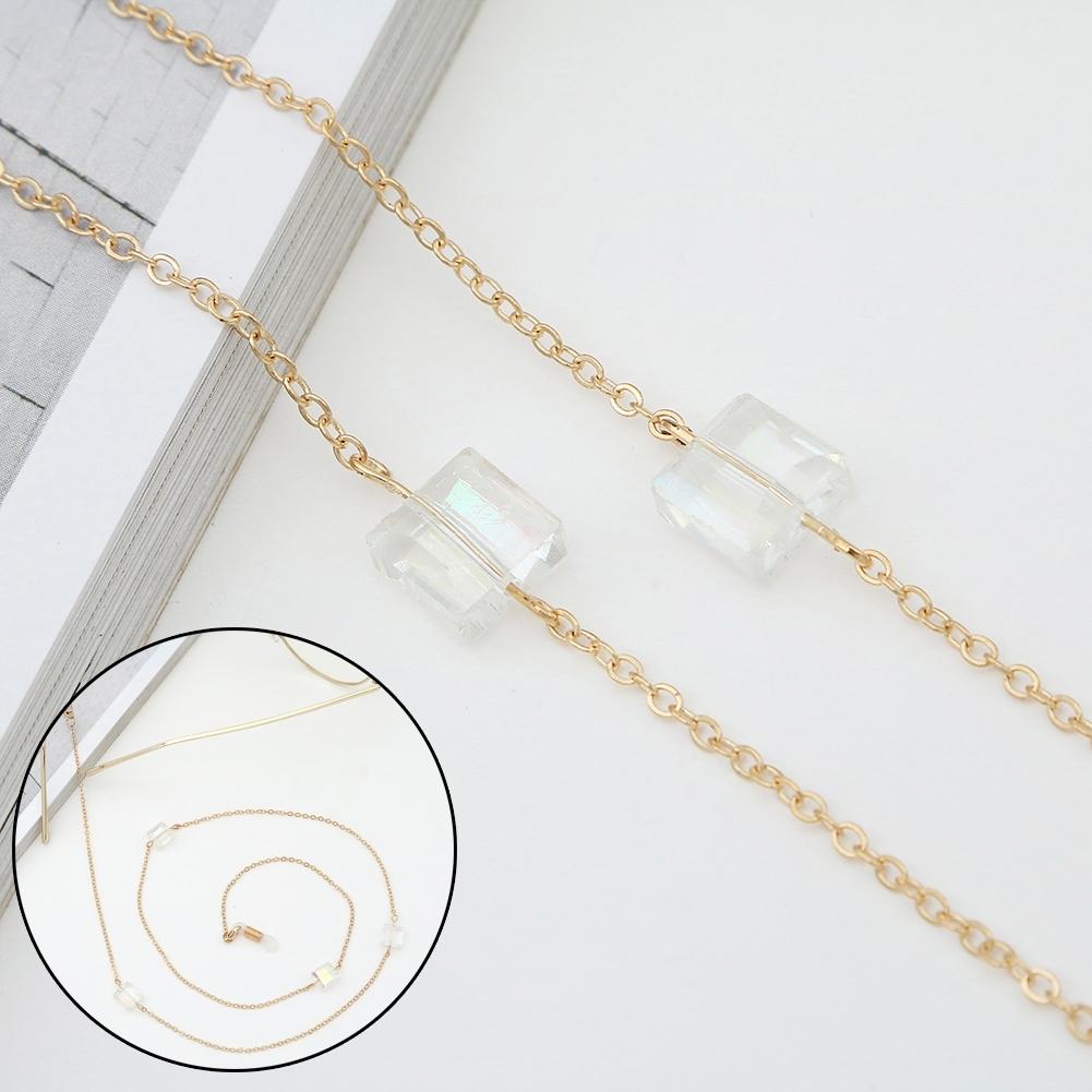 Novel Square Crystal Ornaments Glasses Chain Fashion Sunglasses Glasses Decorative Chain JWP0226 4