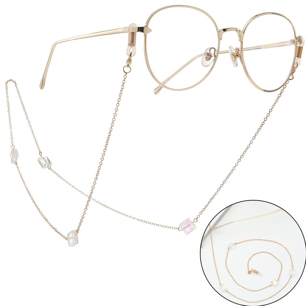 Novel Square Crystal Ornaments Glasses Chain Fashion Sunglasses Glasses Decorative Chain JWP0226 5