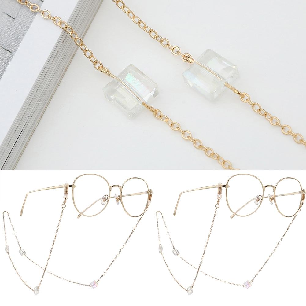 Novel Square Crystal Ornaments Glasses Chain Fashion Sunglasses Glasses Decorative Chain JWP0226 6