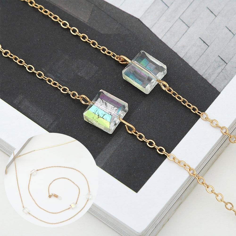 Novel Square Crystal Ornaments Glasses Chain Fashion Sunglasses Glasses Decorative Chain JWP0226 7