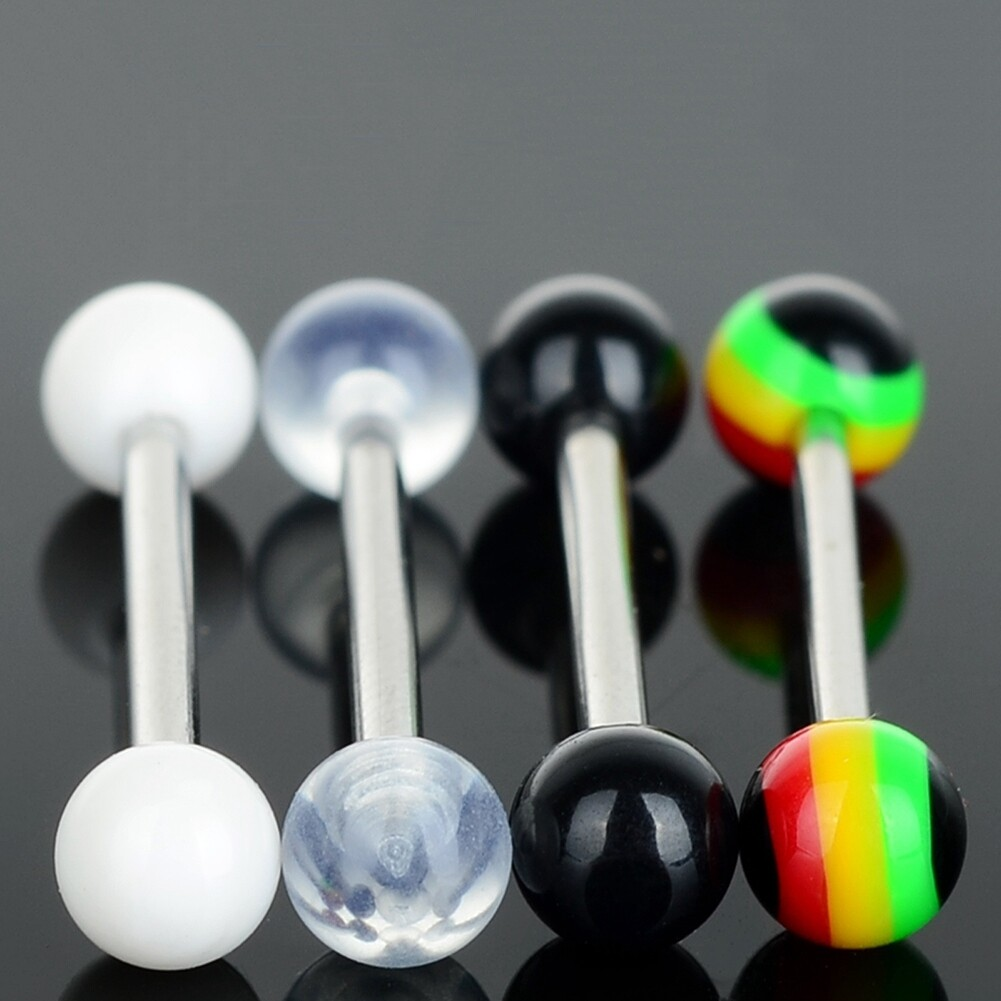 Lots White Belly Navel UV Tragus Labret Lip Rings Bars Body Jewelry New BA61 0