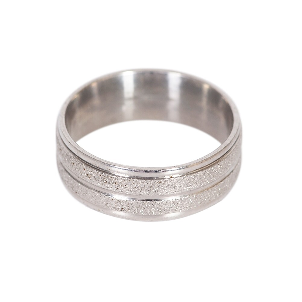 Grind Arenaceous/Rhinestone Stainless Steel Rings For Women Men Finger Jewelry JRA0014 1