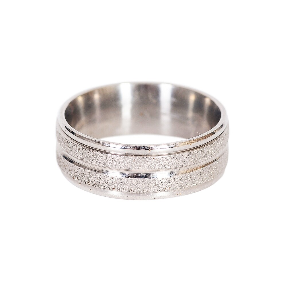 Grind Arenaceous/Rhinestone Stainless Steel Rings For Women Men Finger Jewelry JRA0014 2