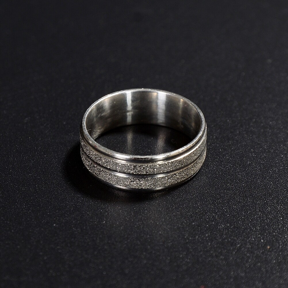 Grind Arenaceous/Rhinestone Stainless Steel Rings For Women Men Finger Jewelry JRA0014 3