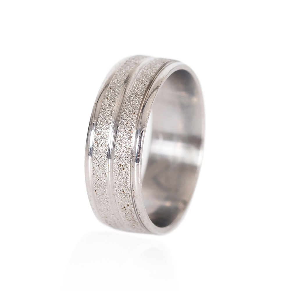 Grind Arenaceous/Rhinestone Stainless Steel Rings For Women Men Finger Jewelry JRA0014 8