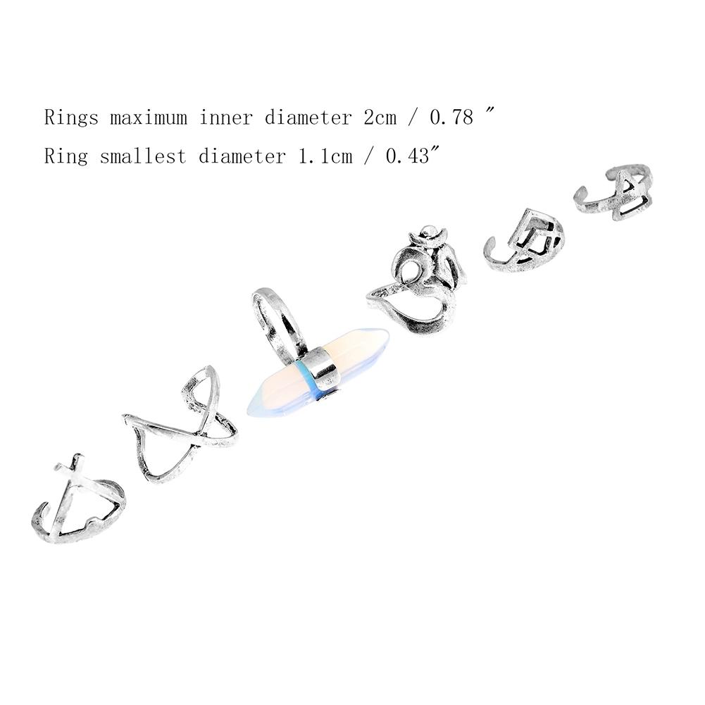 1set Boho Bohemian Turquoise Knuckle Midi Ring Set Turkish Retro Finger Rings For Women Jewelry GE01066 3