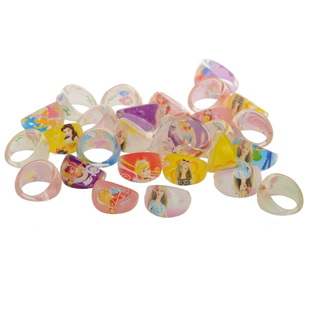 Wholesale Mixed Lots 1Pc Resin Child Kid's Cartoon Friends Rings GA01002 1