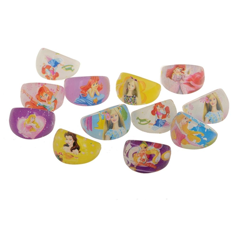 Wholesale Mixed Lots 1Pc Resin Child Kid's Cartoon Friends Rings GA01002 2