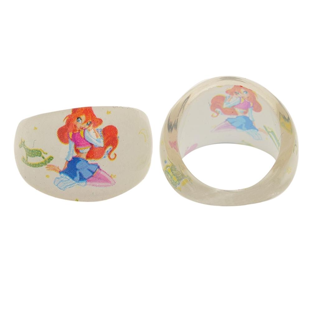 Wholesale Mixed Lots 1Pc Resin Child Kid's Cartoon Friends Rings GA01002 4