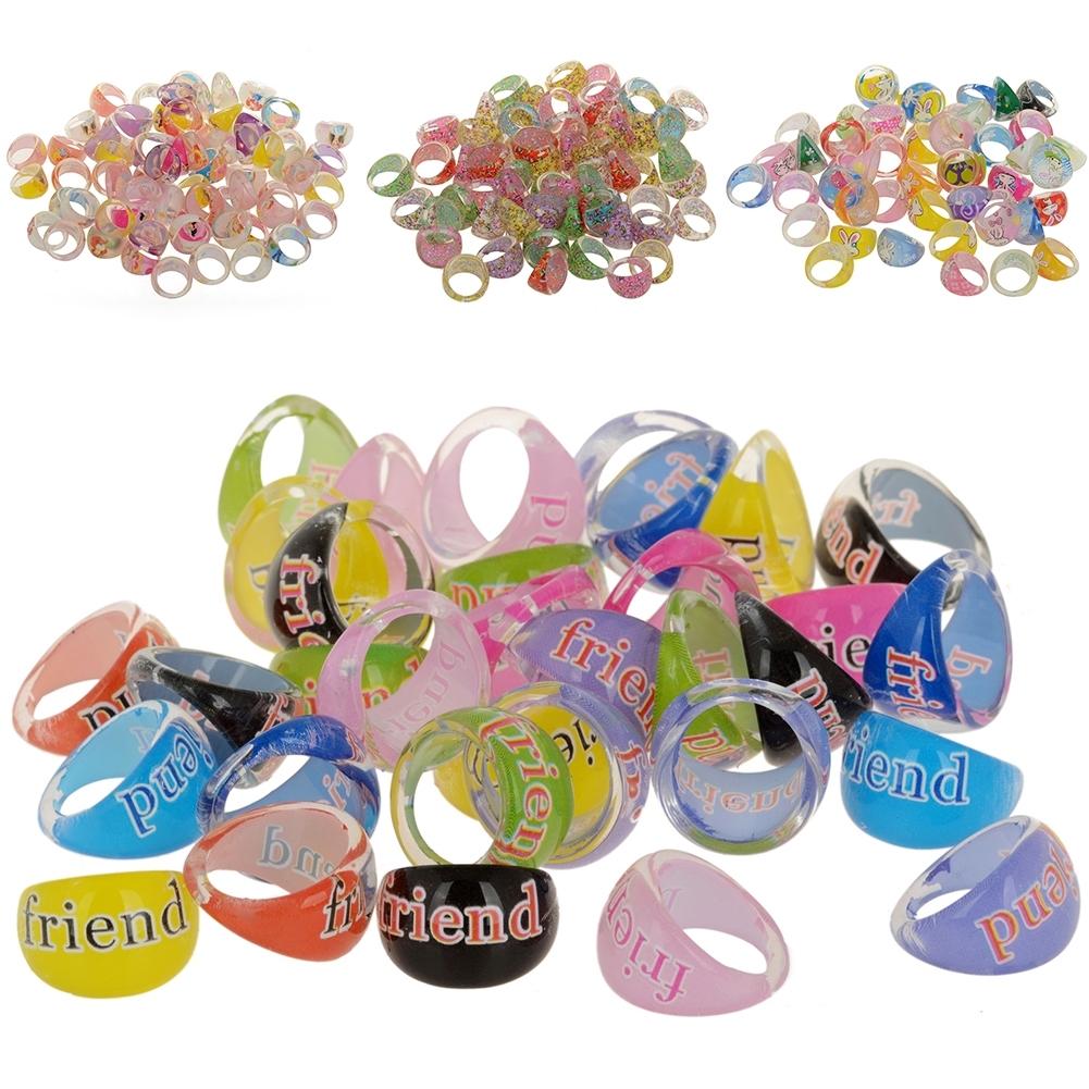 Wholesale Mixed Lots 1Pc Resin Child Kid's Cartoon Friends Rings GA01002 8