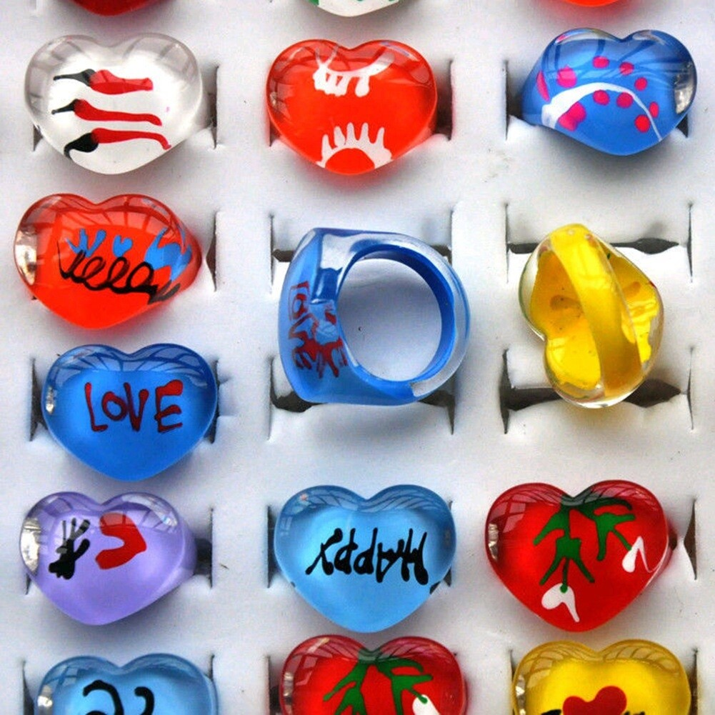 Wholesale mix lot 5pcs cartoon Polymer clay children Rings NEW fashion free shipping KR09 1
