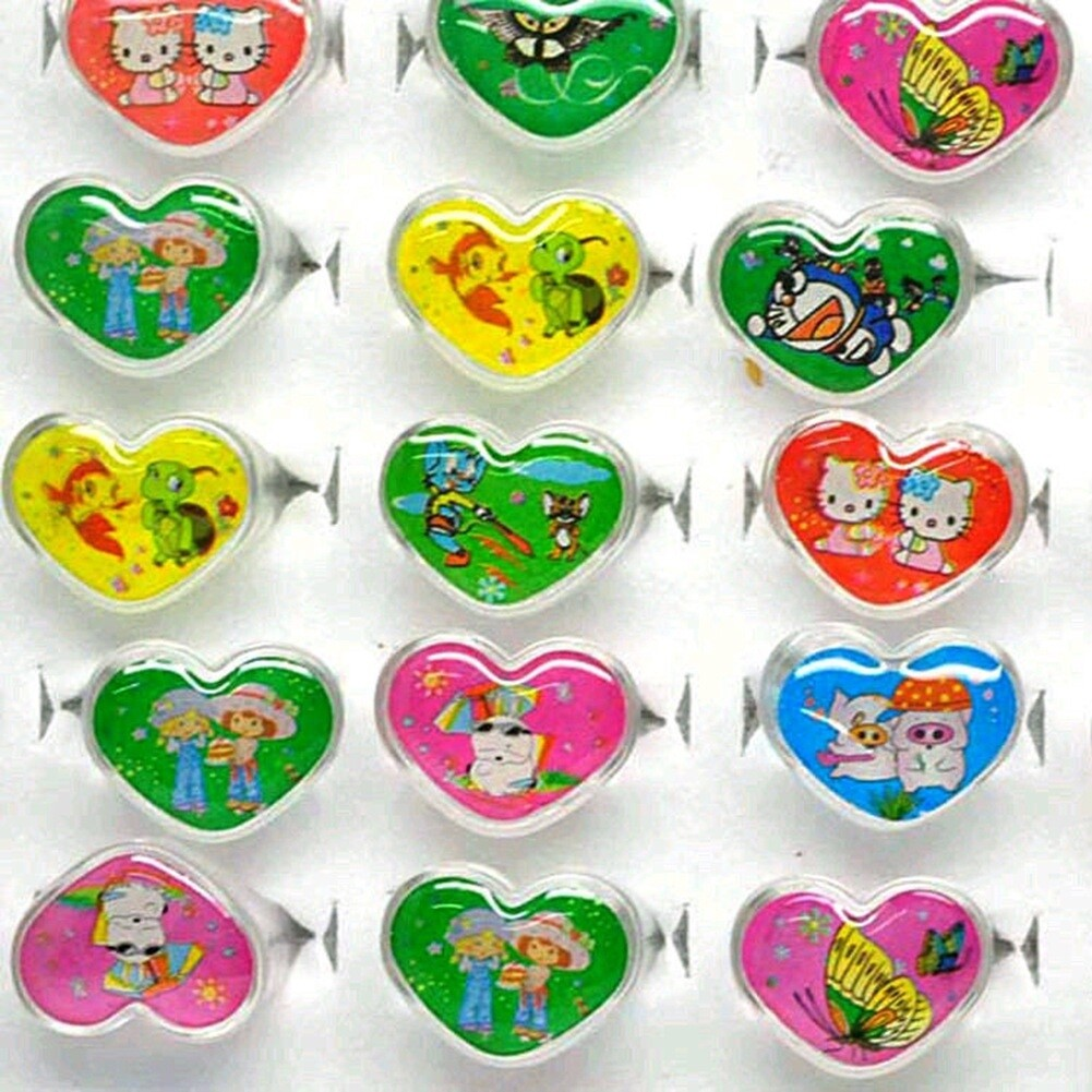 Wholesale mix lot 5pcs cartoon Polymer clay children Rings NEW fashion free shipping KR09 4