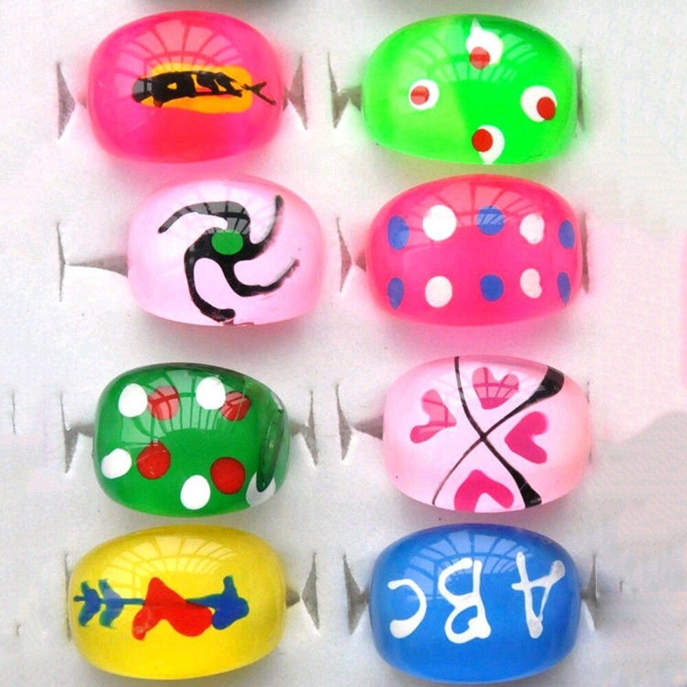 Wholesale mix lot 5pcs cartoon Polymer clay children Rings NEW fashion free shipping KR09 6