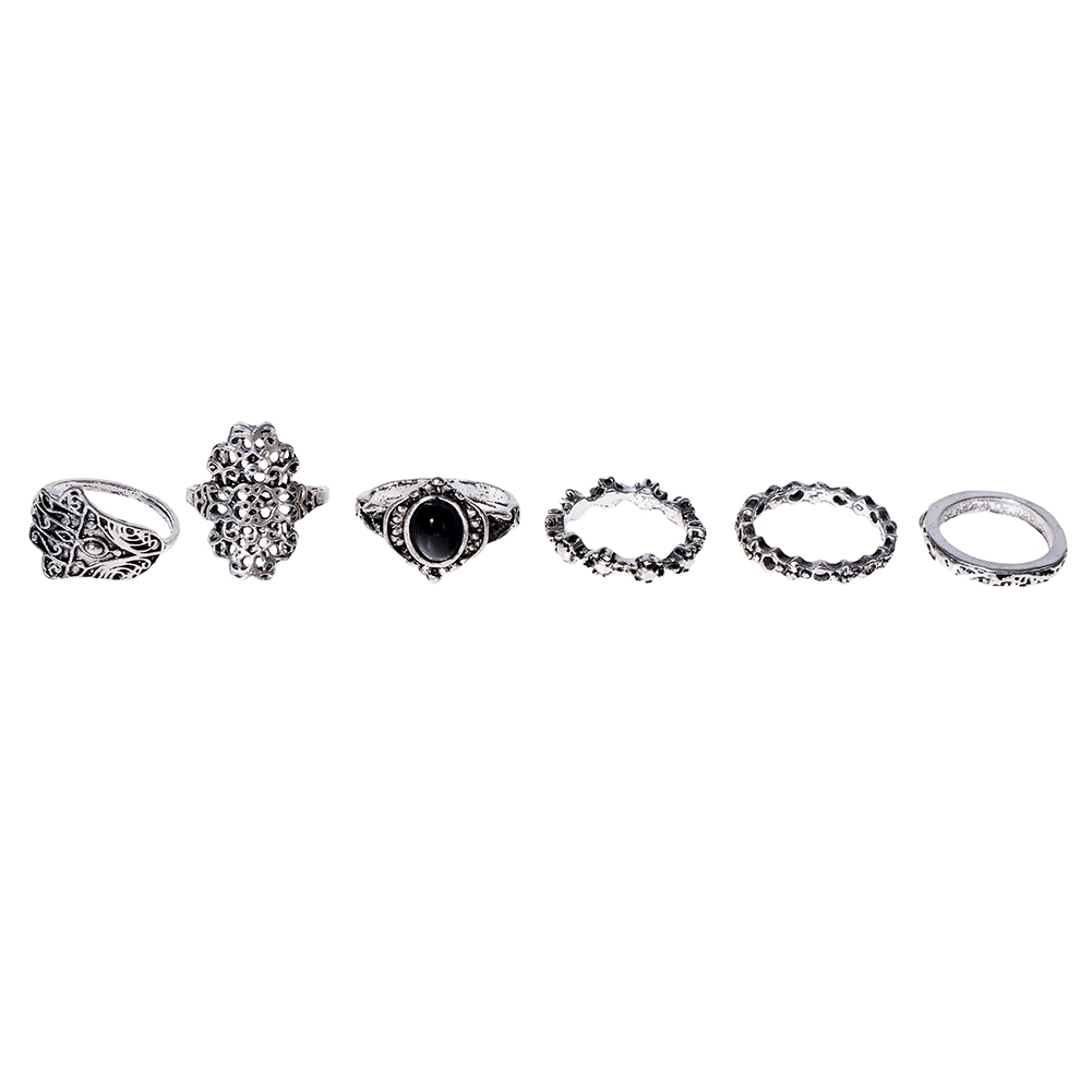 1 Set Womens Punk Antique Alloy Vintage Finger Ring Personality Jewelry Gifts JRC0116 3