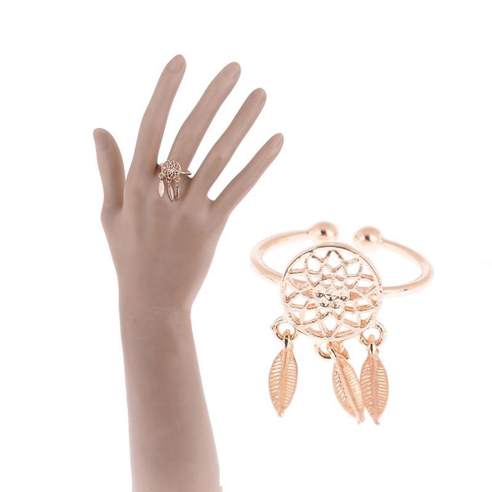 1 Pcs Dreamcatcher Ring Feather Charm Pendant Dream Catcher Wish Ring Adjustable JR14518 8