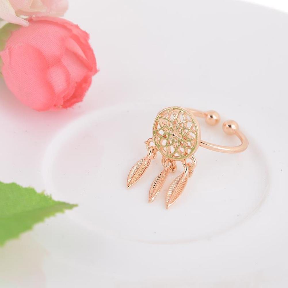 1 Pcs Dreamcatcher Ring Feather Charm Pendant Dream Catcher Wish Ring Adjustable JR14518 9